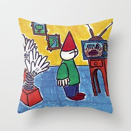 Clapping Hands are Waiting Throw Pillow