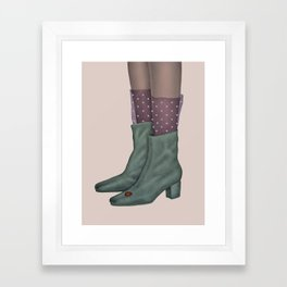 Boots and ladybug Framed Art Print