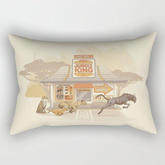 Fast Food (Jungle King) Rectangular Pillow