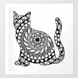 Cat Mandala Art Print