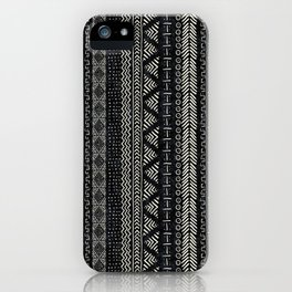 Mud Cloth Stripe iPhone Case