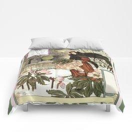 The pretty woman gardener Comforters