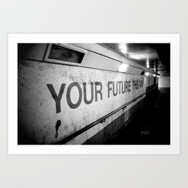 Your Future This Way Art Print