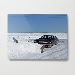 Lincoln Plow Car Metal Print