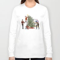 1d Long Sleeve T-shirts featuring 1D XMAS by Tina Rojas