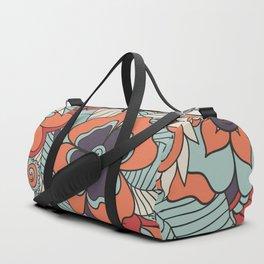 Colorful Vintage Floral Pattern Duffle Bag