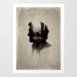 My head a Art Print