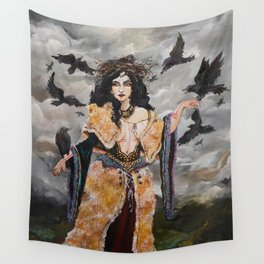 The Morrígan (The Great Queen) Wall Tapestry