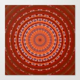 Fall to Winter Mandala Canvas Print