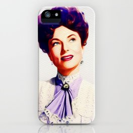 Agnes Moorehead, Vintage Actress iPhone Case