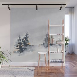 Watercolor Pine Wall Mural