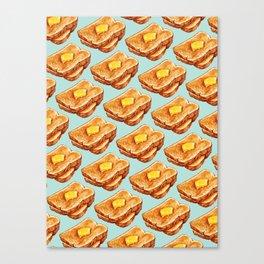 Toast Pattern Canvas Print