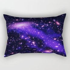 GAlaxy Purple Hot Pink Stars Rectangular Pillow