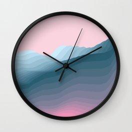 iso mountain Wall Clock