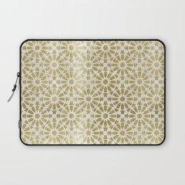 Hara Tiles Gold Laptop Sleeve