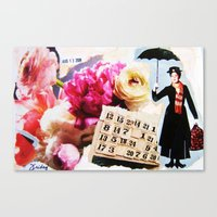 mary poppins Canvas Prints featuring Mary Poppins by Patti Friday