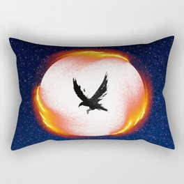 The Head is too Wise The Heart is All Fire | Raven Cycle Design Rectangular Pillow