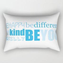Be You - Blue Rectangular Pillow