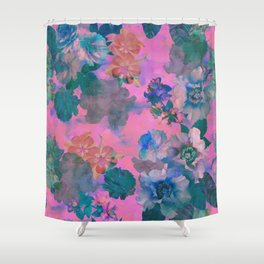 Le Fluer Fushia Shower Curtain