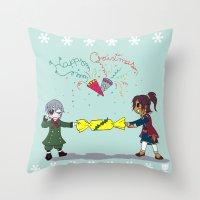 kuroshitsuji Throw Pillows featuring Ciel and Soma's Xmas by neko-productions