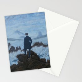 Walker over fog Stationery Cards