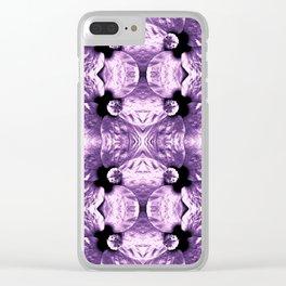 Shiny Purple Flower Design, Pattern Clear iPhone Case