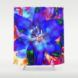 Flashy Flower Shower Curtain