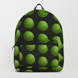 Whole Green Limes on Black Backpack