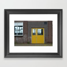 Yellow doors Framed Art Print