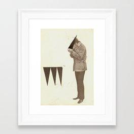 Triangle Addict Framed Art Print