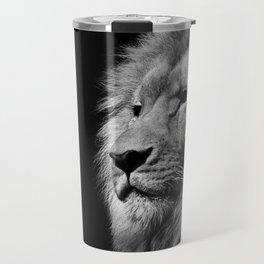 Lion Black and white Travel Mug