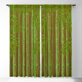 Bamboo Forest Pattern! Blackout Curtain