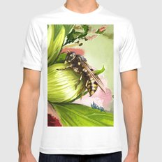 Wasp on flower 6 MEDIUM White Mens Fitted Tee