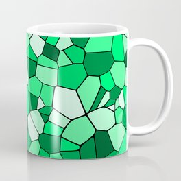 Monochrome Green Mosaic Pattern Coffee Mug