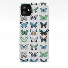 Green and Blue Butterflies iPhone Case