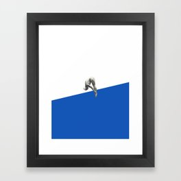 Diver (blue) Framed Art Print