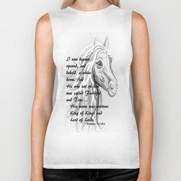 White Horse of a King Biker Tank