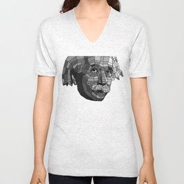 EINSTEIN POLYGON MESH Unisex V-Neck