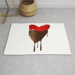 Chocolate Dipped Heart Rug