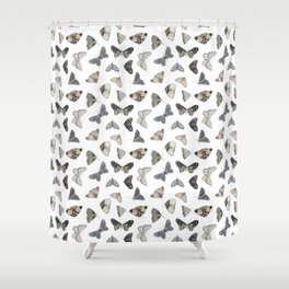 Moths Shower Curtain