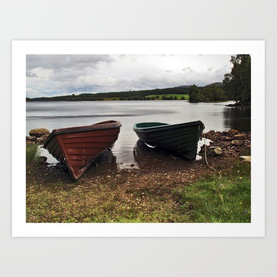 Loch Knockie Art Print