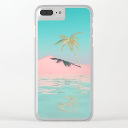 Palm Tree Oasis Clear iPhone Case