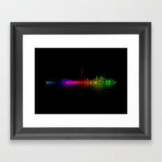 Toronto Rainbow Reflection Framed Art Print