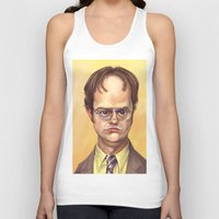 dwight Tank Tops featuring Mr. Dwight K Schrute by Ben Anderson