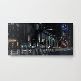 Church street at night, downtown, Manhattan, New York (2020-5-GNY142) Metal Print