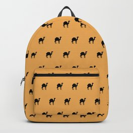 Camels on yellow Backpack