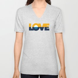 LOVE - People's Flag of Milwaukee Unisex V-Neck