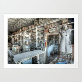 The General Store, Bodie Ghost Town Art Print