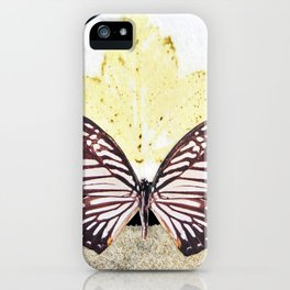 Gold Dust Butterfly Eco Print Moon iPhone Case
