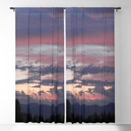 Purple & Pink Sunrise Blackout Curtain